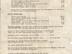 1951 Funeral Prices