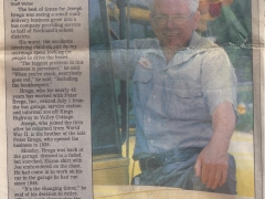 Joe Brega Retirement Journal News